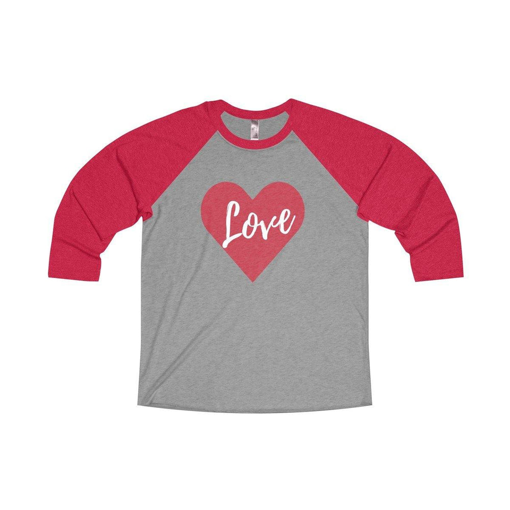 Womens Valentines Day Love Heart Raglan Shirt New For Valentines Day 2018 for $34.00 at Miss Deplorable