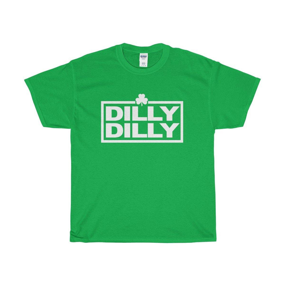 Mens Dilly Dilly St Patricks Day Irish Shamrock Green And White Shirt