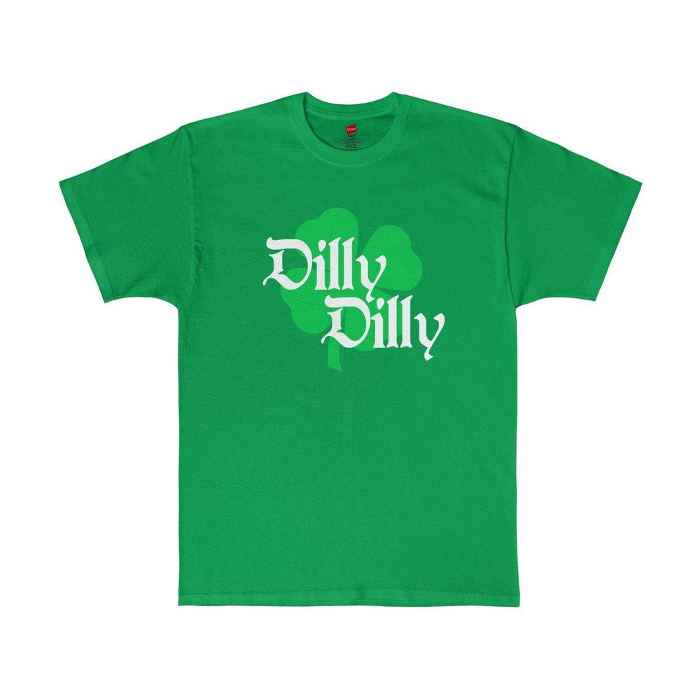 ST. Patricks Day Dilly Dilly Clover Funny Beer Drinking Mens Green T Shirt - Miss Deplorable