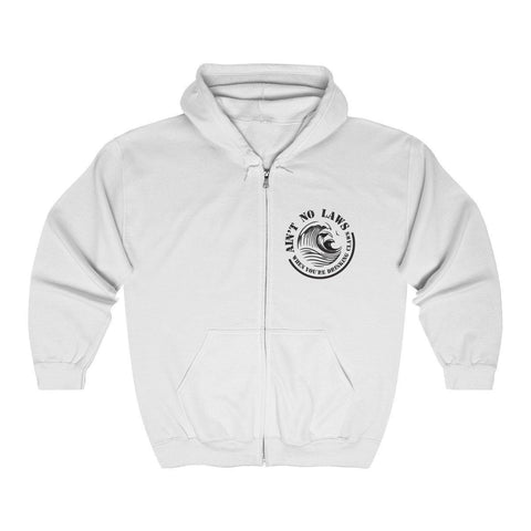 Aint No Laws When Your Drinking Claws Full Zip Hooded Sweatshirt - White Claw Hoodie - Womens Drinking Hoodie - Miss Deplorable