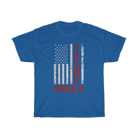 Trump 2024 Distressed American Flag T-Shirt for $25.00 at Miss Deplorable