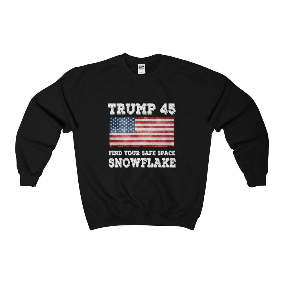 Trump 45 Find Your Safe Space Snowflake Sweatshirt for $35.00 at Miss Deplorable
