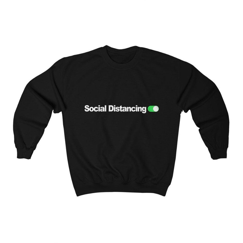Social Distancing Shirt Switched On Crewneck Sweatshirt - Miss Deplorable