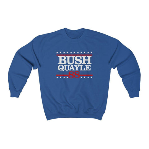 George H W Bush Sweater Bush Quayle 88 Campaign Shirt President Bush Crewneck Sweatshirt for $35.00 at Miss Deplorable