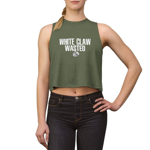 White Claw Wasted Shirt - White Claws Women's Crop Top - Miss Deplorable