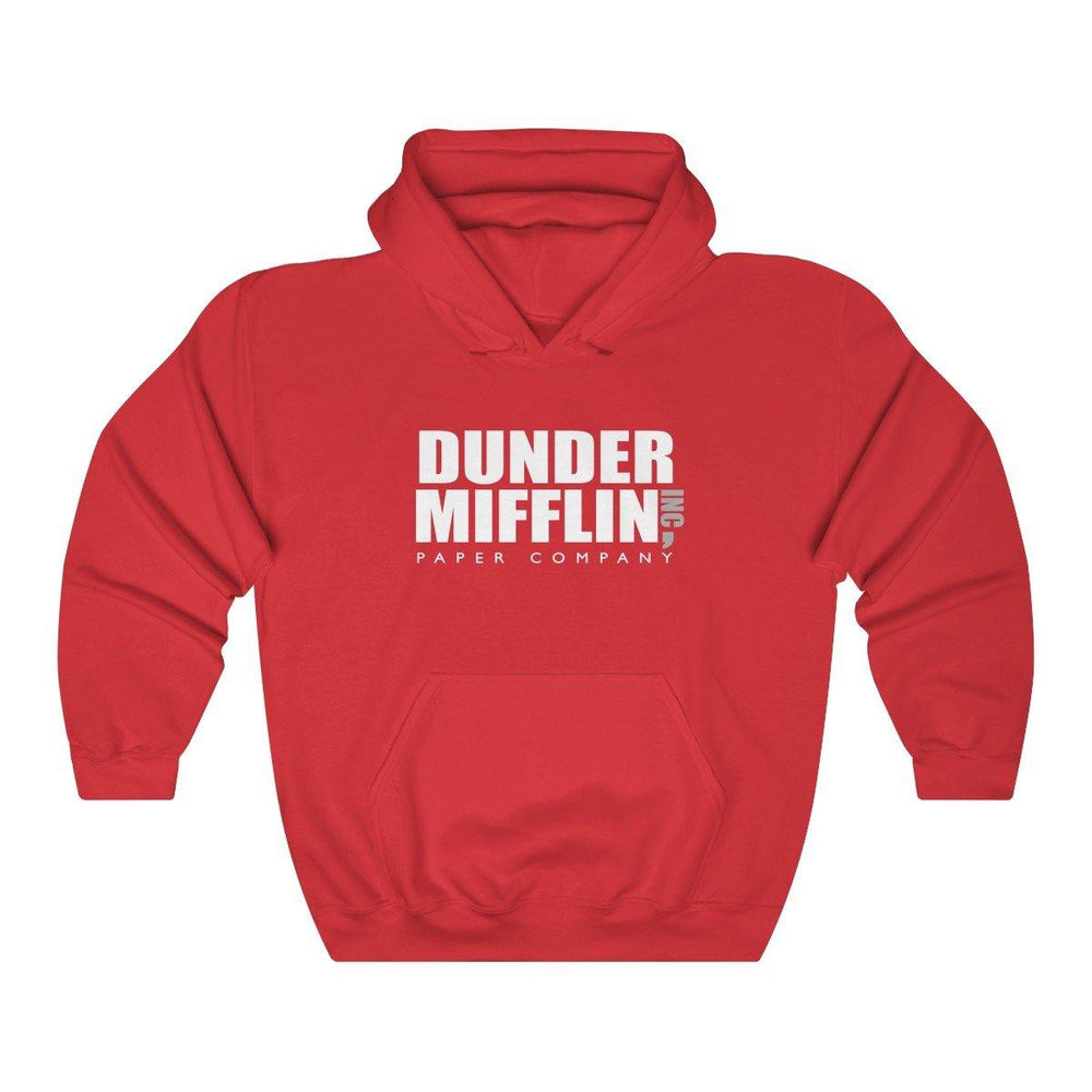 Dunder Mifflin Hoodie - Red - Miss Deplorable