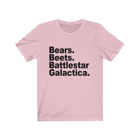 Bears Beets Battlestar Galactica Short Sleeve T-Shirt - Shirt for $25.00 at Miss Deplorable