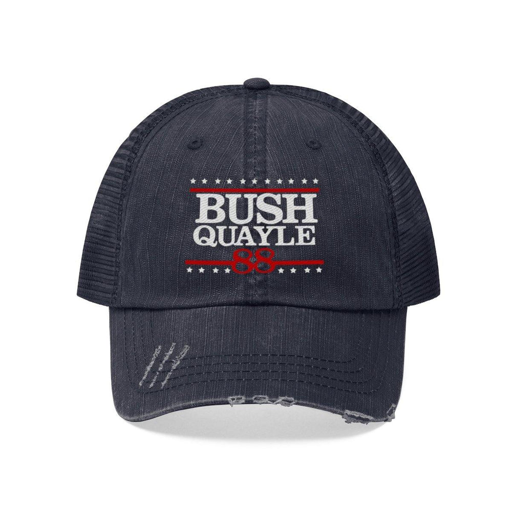 George H W Bush Hat Bush Quayle 88 Campaign Trucker Hat - Miss Deplorable
