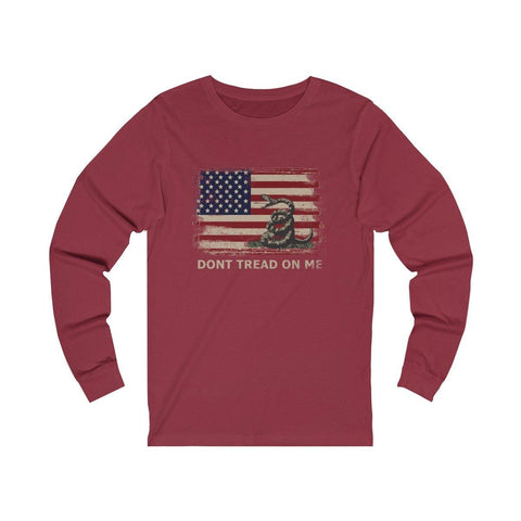 Dont Tread On Me Shirt - Gadsden Flag Tee - Chris Pratt Long Sleeve T-Shirt - Miss Deplorable
