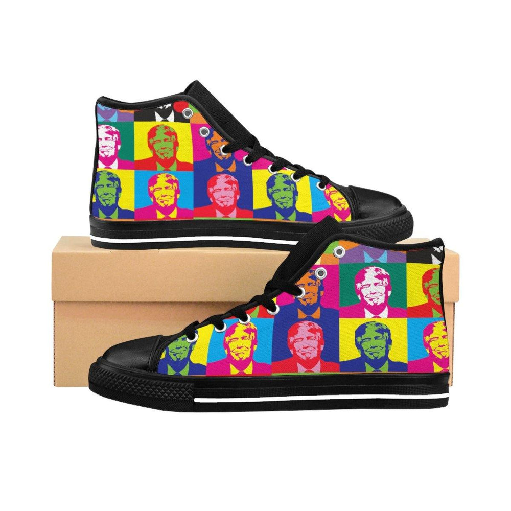 Men's Donald Trump Pop Art High-top Sneakers