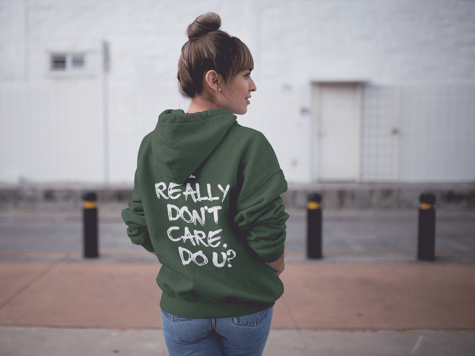 Melania Trump Jacket -  I Really Don't Care Do U Hooded Sweatshirt - Miss Deplorable