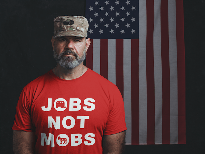 Jobs Not Mobs T Shirt - Donald Trump Republican Tee for $25.00 at Miss Deplorable