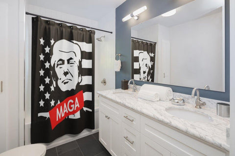 Donald Trump Make America Great Again MAGA Shower Curtains - Miss Deplorable