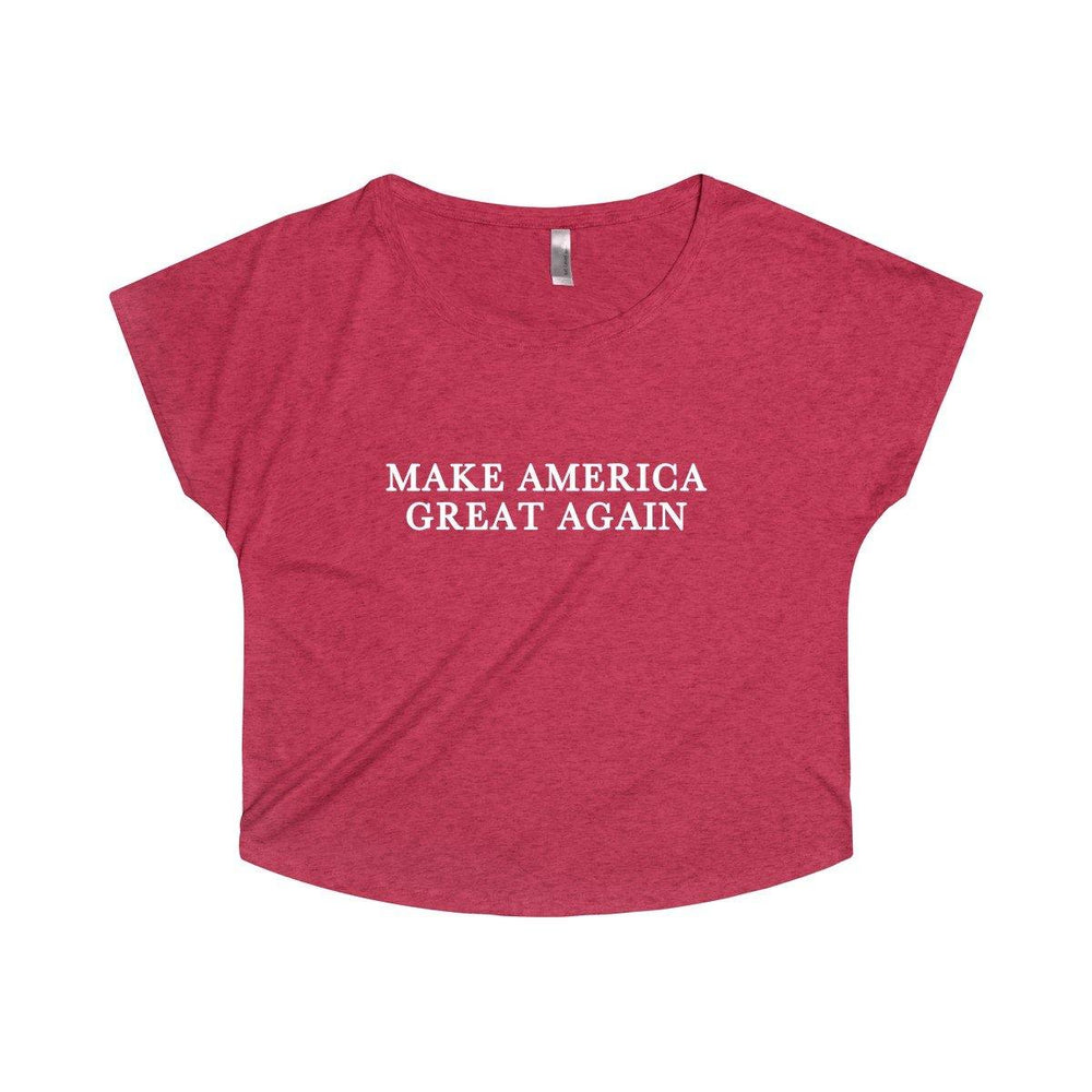 Donald Trump Classic Make America Great Again Women's Tri-Blend Dolman - Miss Deplorable