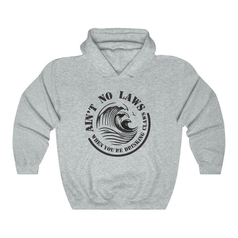 Aint No Laws When Your Drinking Claws Hoodie - White Claw Hooded Sweatshirt for $39.00 at Miss Deplorable
