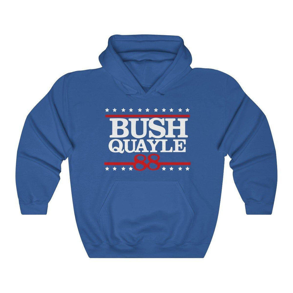 George H W Bush Hoodie Bush Quayle 88 Campaign Shirt President Bush Hooded Sweatshirt for $39.00 at Miss Deplorable