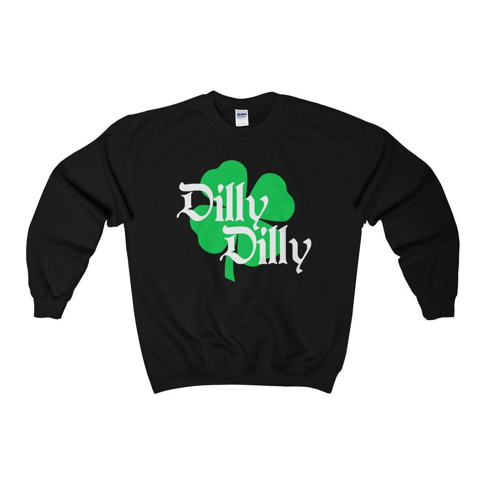 ST. Patricks Day Dilly Dilly Clover Funny Beer Drinking Crewneck Sweatshirt - Miss Deplorable