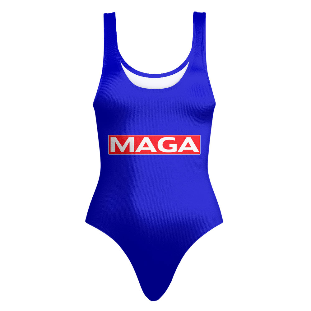 Donald Trump Make America Great Again MAGA One-Piece Swimsuit - Miss Deplorable