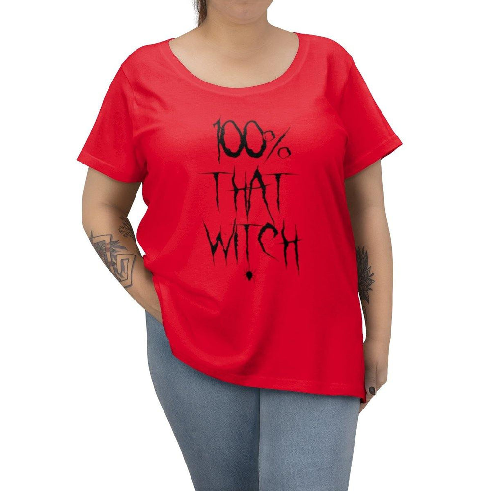 100% That Bitch Womens Plus Size T-Shirt - Halloween Tee - Scary Halloween Shirt - Miss Deplorable