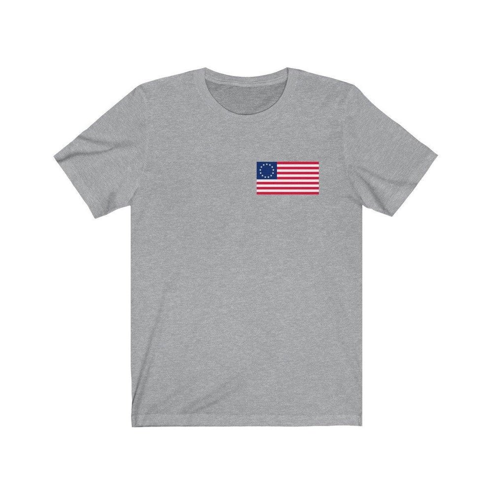 Betsy Ross American Flag Unisex Jersey Short Sleeve T-shirt - Miss Deplorable