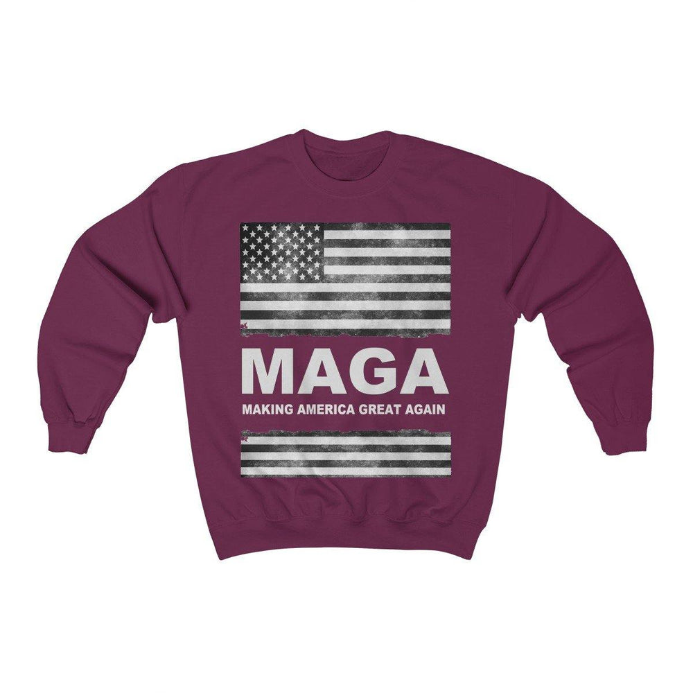 Donald Trump Distressed MAGA Crewneck Sweatshirt - Miss Deplorable