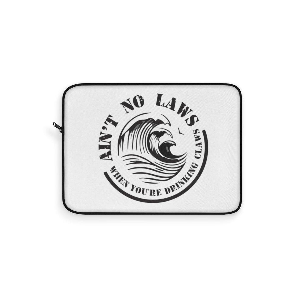 Aint No Laws When Your Drinking Claws Laptop Sleeve - White Claws Laptop Cover - Drinking Laptop Sleeve - Miss Deplorable