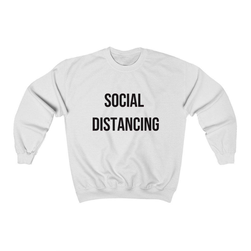 Social Distancing -Sweater - Social Distancing Shirt Mens Womens Crewneck Sweatshirt - Miss Deplorable