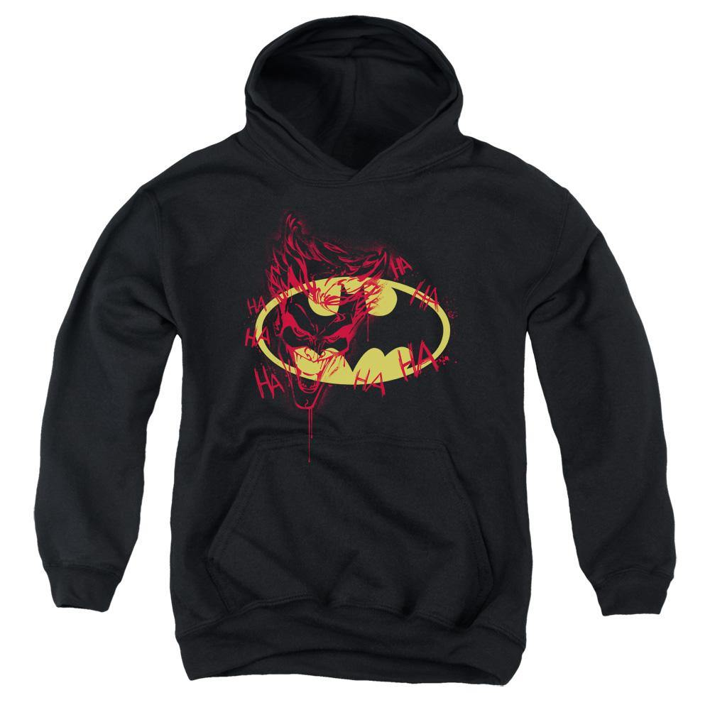 Batman - Joker Graffiti Youth Pull Over Hoodie for $45.56 at Miss Deplorable