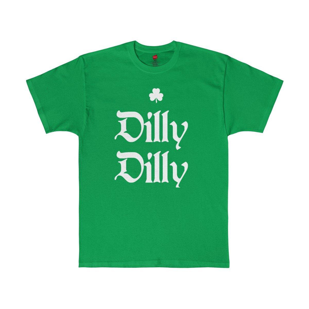 Men's Green St. Patricks Day Dilly Dilly Irish Shamrock T Shirt - Miss Deplorable