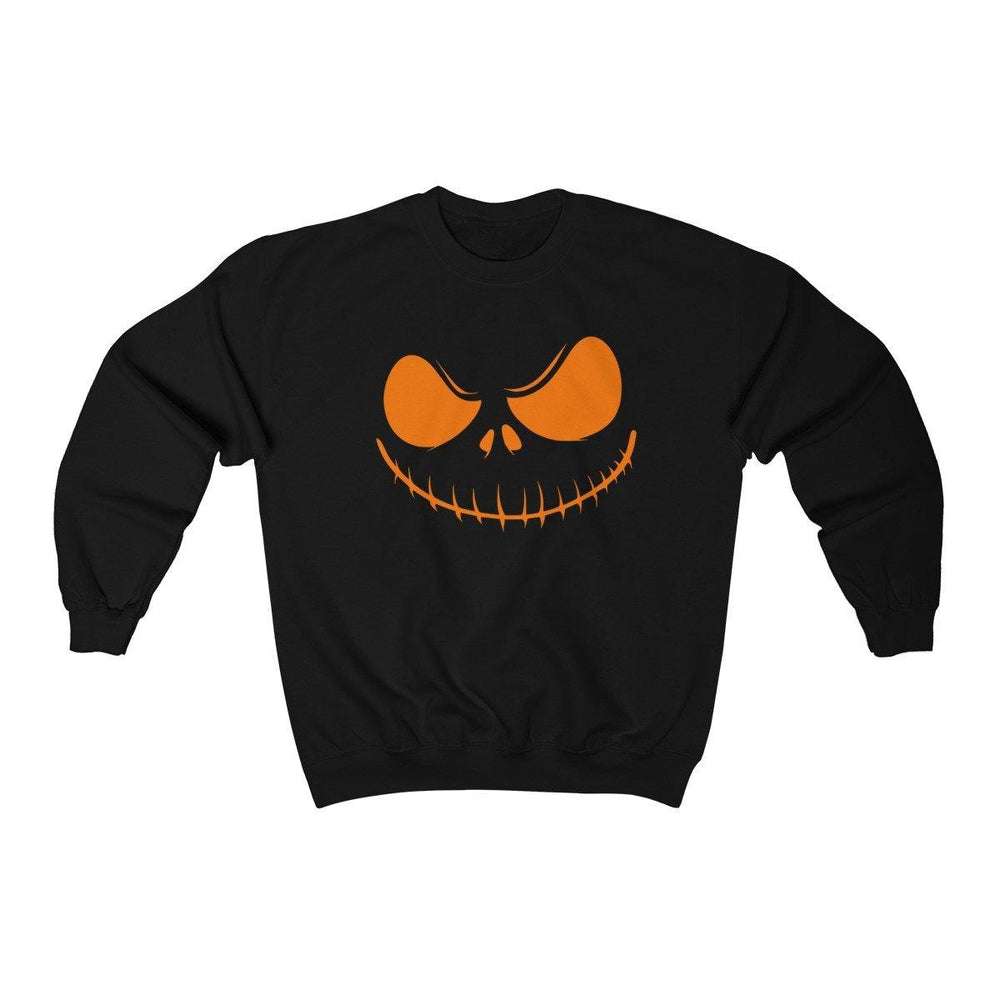 Halloween Scary Pumpkin Face Sweater - Halloween Crewneck Sweatshirt - Miss Deplorable