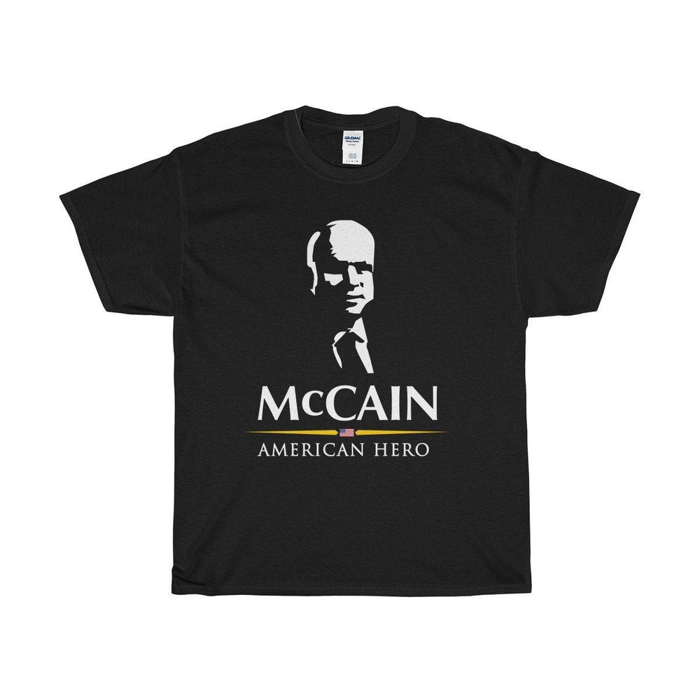 John McCain TShirt - John McCain American Hero Usa Flag Shirt for $25.00 at Miss Deplorable