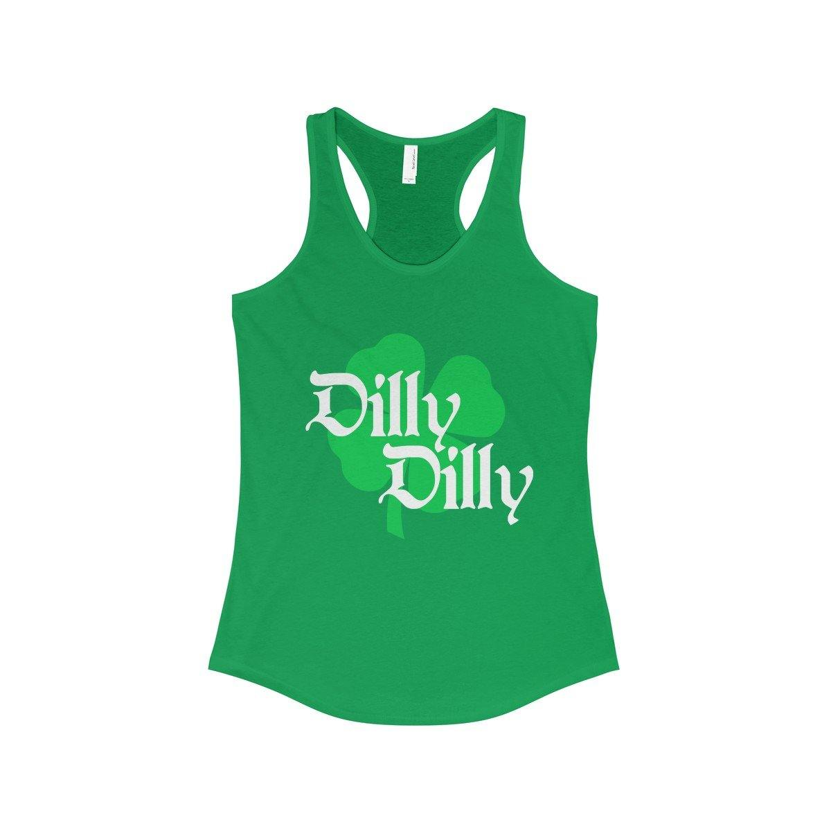 98e760eaac210 Buy ST. Patricks Day Dilly Dilly Clover Funny Beer Drinking Womens  Racerback Tank Top at Miss Deplorable for only  25.00