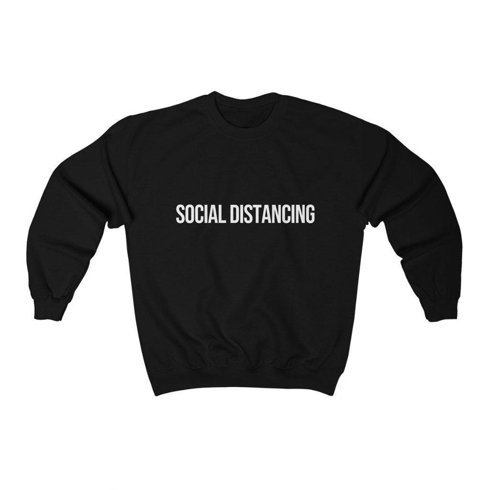 Social Distancing Sweatshirt - Social Distancing Shirt - Mens Womens Crewneck Sweatshirt - Miss Deplorable