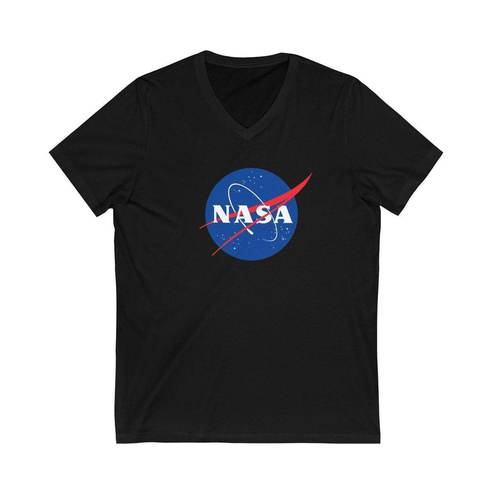 NASA Logo V-Neck Shirt - Space Tees - NASA Space Distressed T-Shirts - Womens Shirts - Mens NASA Tees - Miss Deplorable