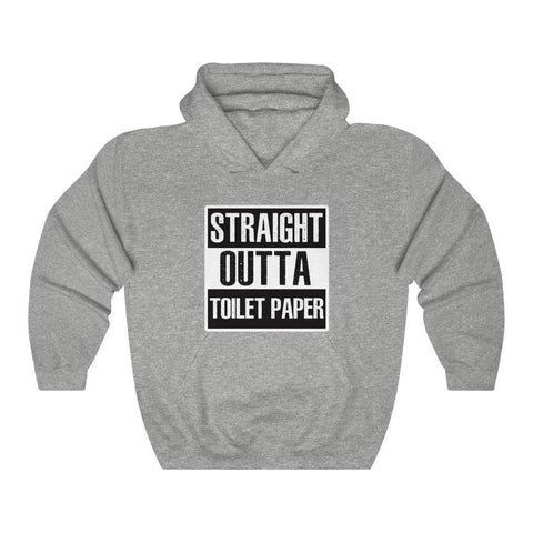 Straight Outta Toilet Paper Shirt Funny Mens Womens Hoodie Hooded Sweatshirt - Miss Deplorable
