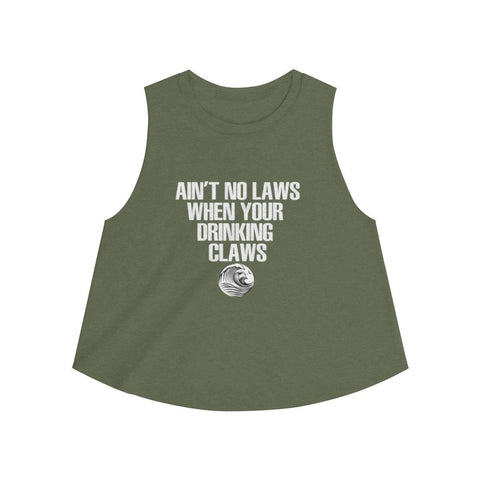 Aint No Laws When Your Drinking Claws Shirt - White Claw Women's Crop Top - Miss Deplorable