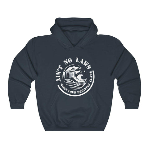 Aint No Laws When Your Drinking Claws Hoodie - White Claw Shirt Hooded Sweatshirt - Miss Deplorable