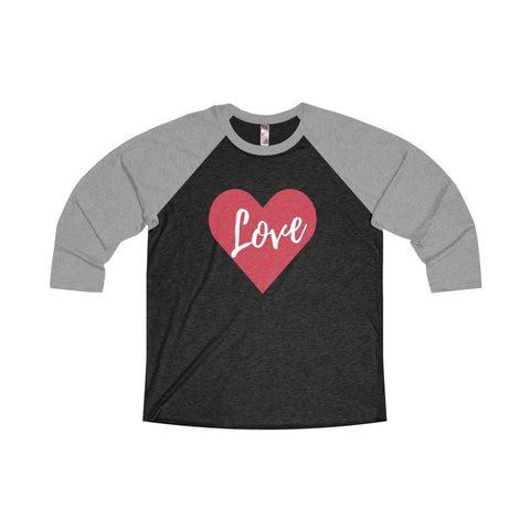 Womens Valentines Day Love Heart Raglan Shirt New For Valentines Day 2018 - Miss Deplorable