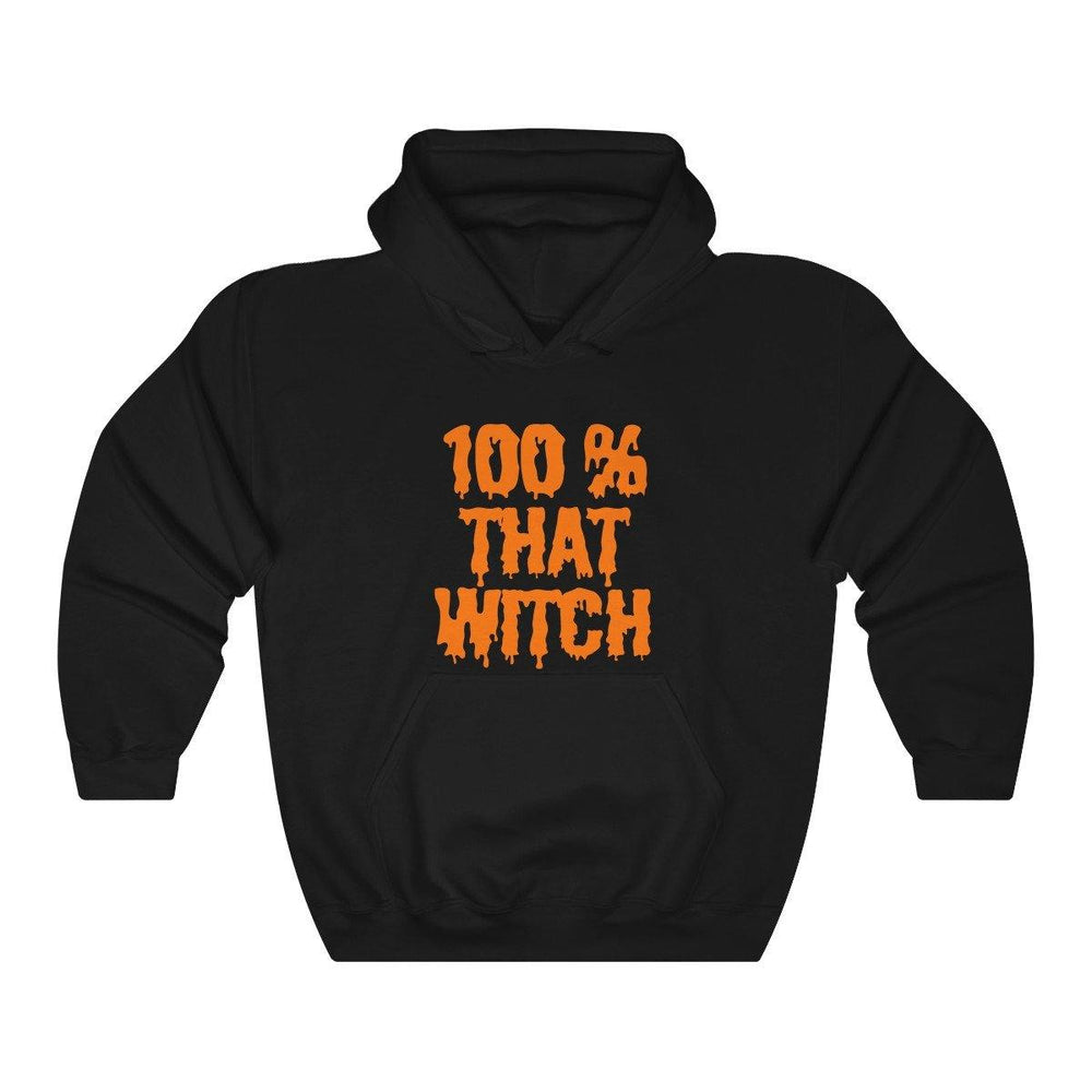 100% That Witch Hoodie - Womens Halloween Hooded Sweatshirt - Miss Deplorable