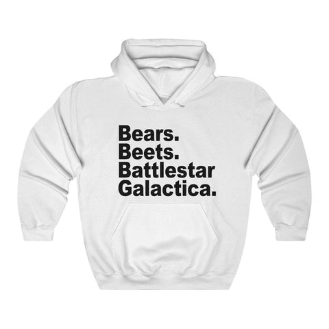 Bears Beets Battlestar Galactica Hooded Sweatshirt - Hoodie - Miss Deplorable