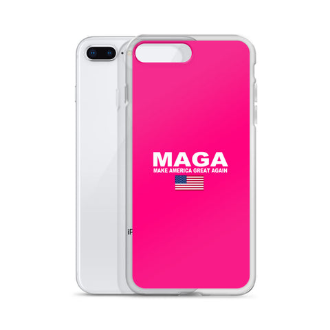 Donald Trump Make America Great again iPhone Case Pink - Miss Deplorable