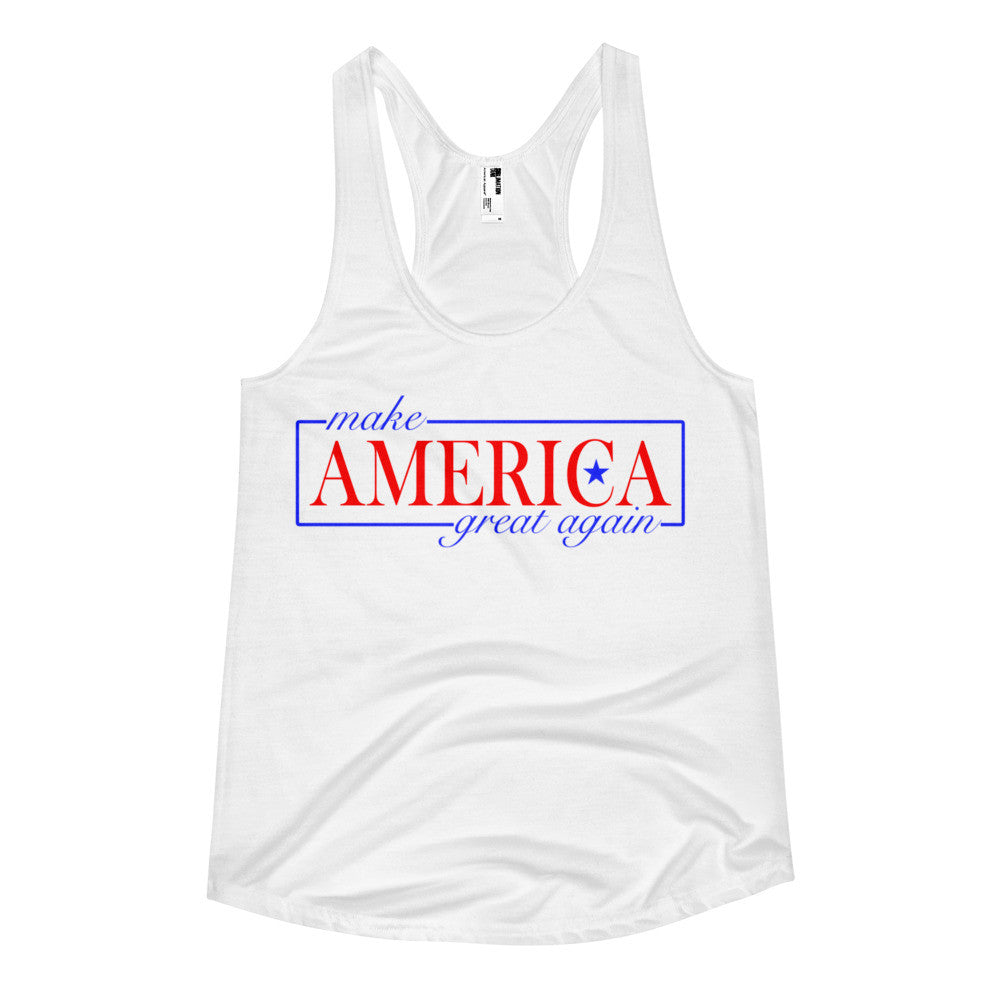 Make America Great Again Women's Racerback Tank for $25.00 at Miss Deplorable