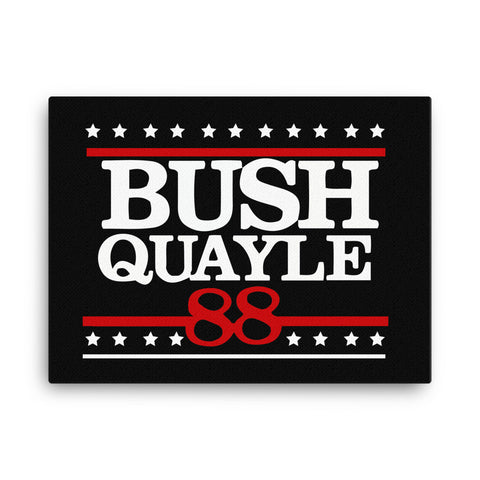 George H. W. Bush 41st President of the United States Bush Quayle 88 Canvas - Miss Deplorable