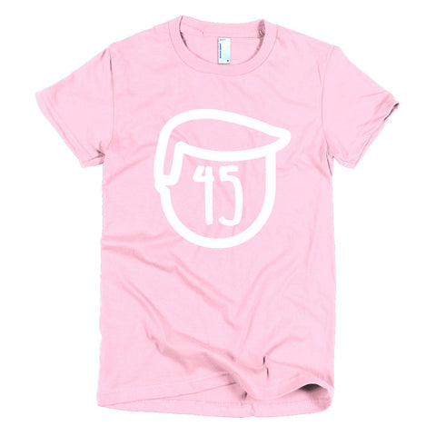 Trump 45 Donald Trump Short sleeve women's t-shirt for $25.00 at Miss Deplorable