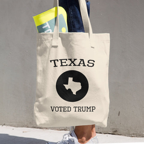 Texas Voted Donald Trump Cotton Tote Bag - Miss Deplorable