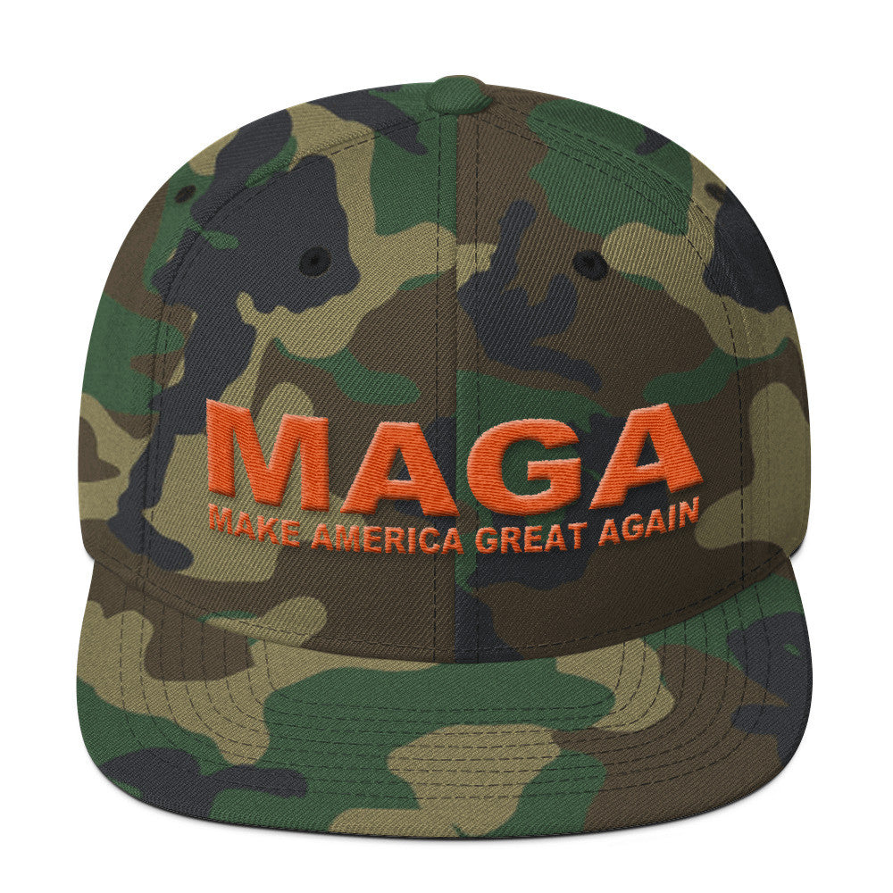 Make America Great Again Camouflage Snapback Cap - Miss Deplorable