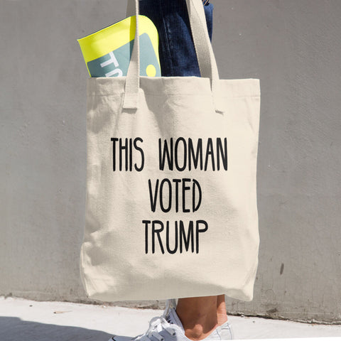 This Woman Voted Donald Trump Cotton Tote Bag - Miss Deplorable