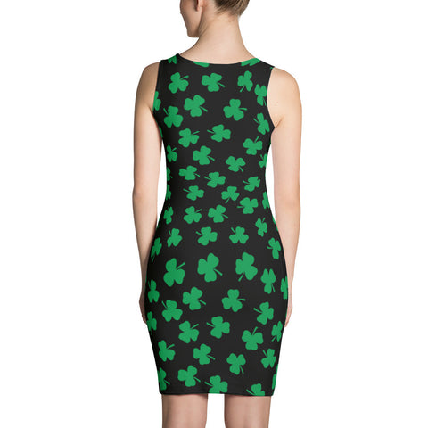 Irish Four Leaf Clover Little Black Dress - Miss Deplorable