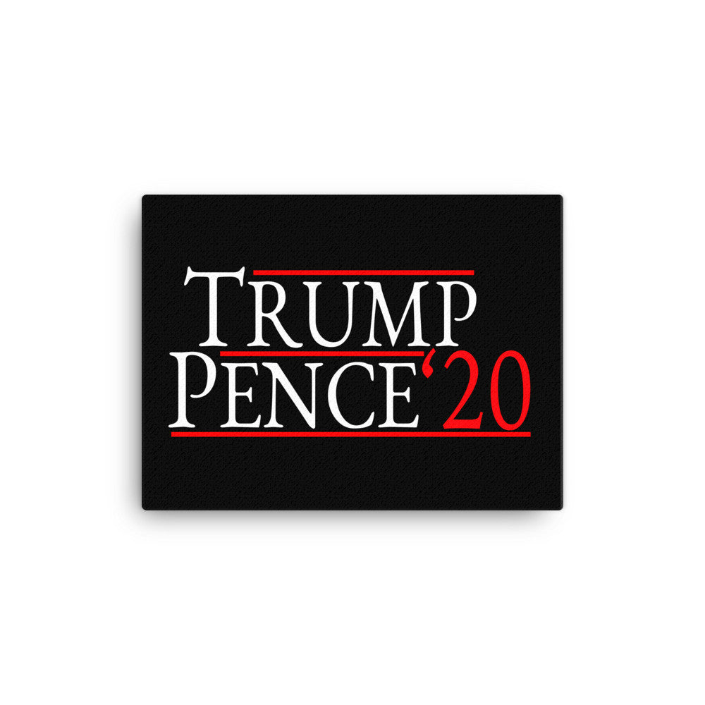 Trump Pence 2020 Wall Canvas - Miss Deplorable