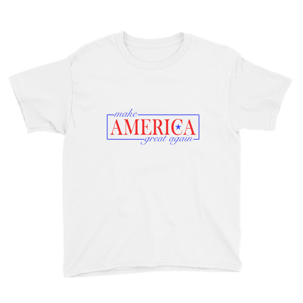 Youth Make America Great Again T Shirt White - Miss Deplorable